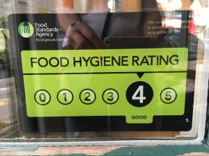 We are proud to say that Hornbeam's rating by the Food Standards Agency is 4.