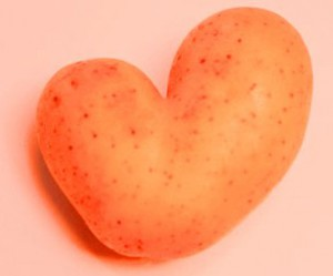 Heart-shaped-potato pink
