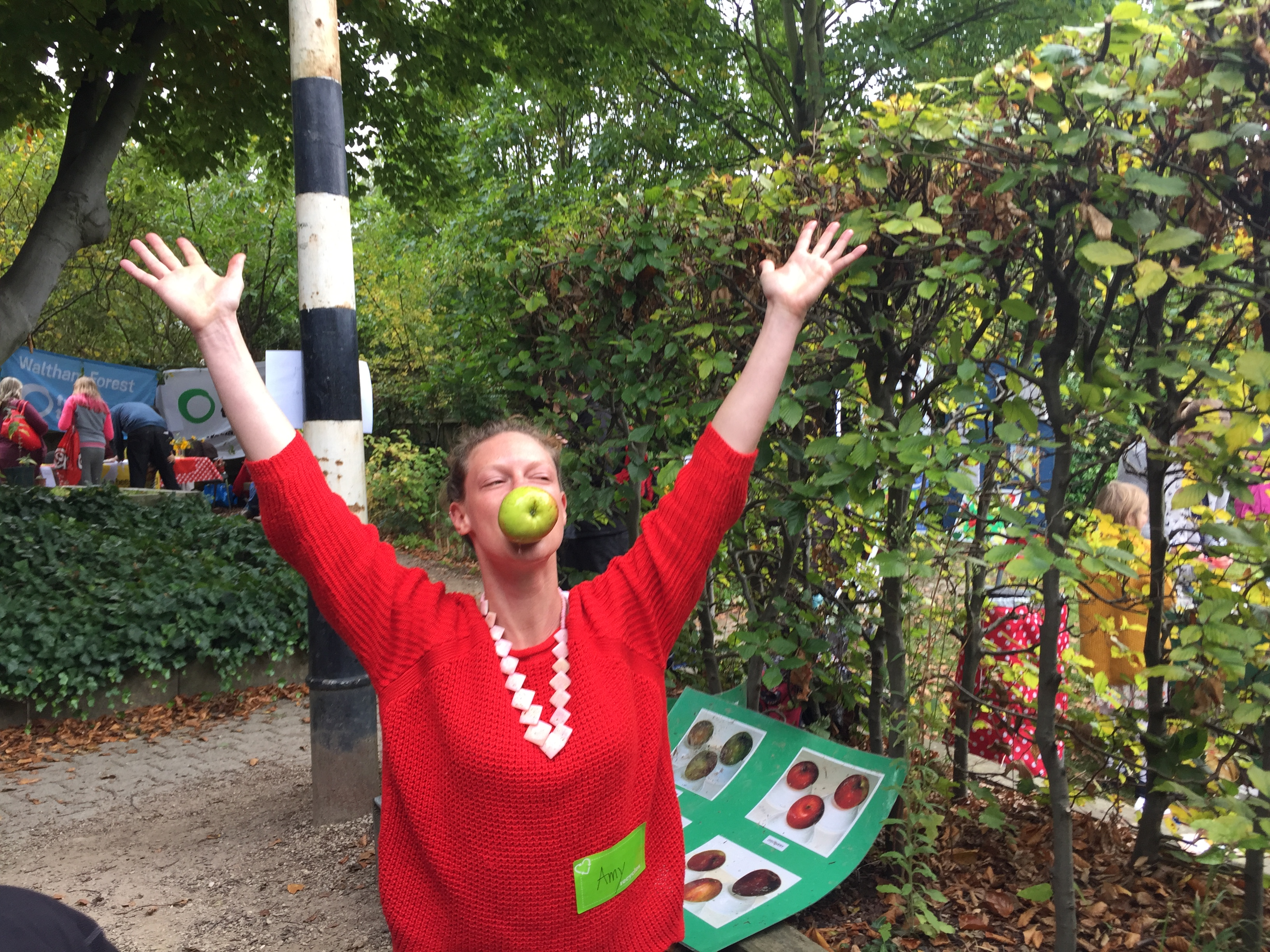 Join in the Apple Day Bobbing - success!
