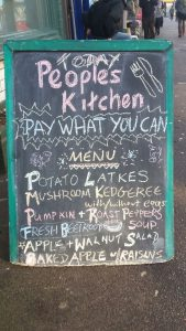 People's Kitchen menu