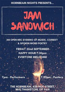 Jam Sandwich - music, comedy, poetry, spoken word - join us!