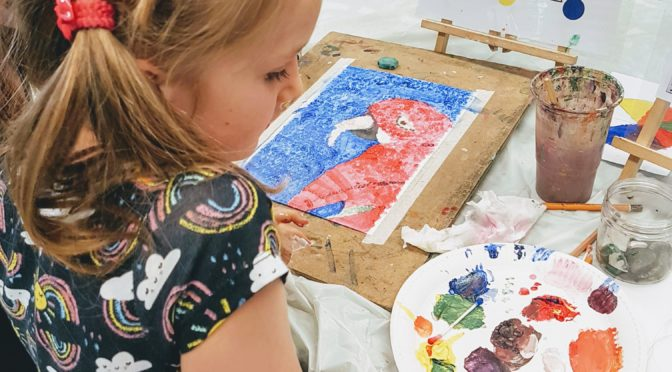 Children's Art Class at the Learning Lodge